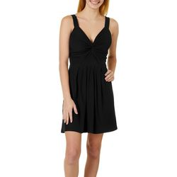 Juniors Solid Sleeveless Dress