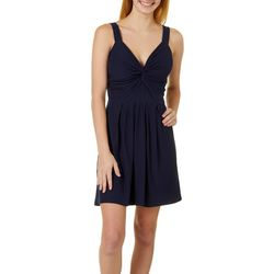 Derek Heart Juniors Solid Sleeveless Dress