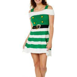 Derek Heart Juniors Christmas Elf Sweater Dress