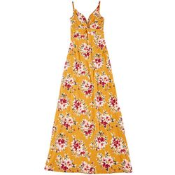 Juniors Floral Sleeveless Maxi Dress