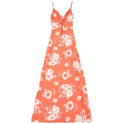 Derek Heart Juniors Sleeveless Floral Maxi Dress