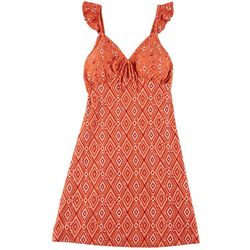 Derek Heart Juniors Printed Foam Cup Sleeveless Dress