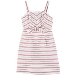 Juniors Sleeveless Stripe Dress
