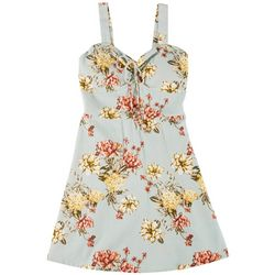 Derek Heart Juniors Strappy Floral Print Dress