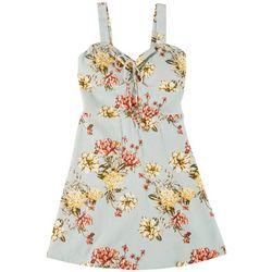 Derek Heart Juniors Strappy Floral Print Dress