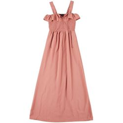 Juniors Smocked Maxi Dress