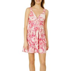 Derek Heart Juniors Pink Tie Dye Dress