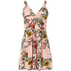 Juniors Floral Sleeveless Dress