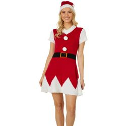 Derek Heart Juniors Mrs. Claus Sweater Dress Set
