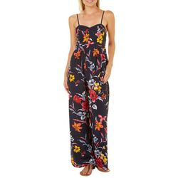 Chance & Destiny Juniors Floral Wide Leg Jumpsuit