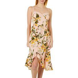 Chance & Destiny Juniors Tropical Floral Print Midi Dress
