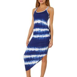 Almost Famous Juniors Tie Dye Sleeveless Dress