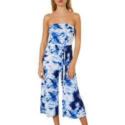 Almost Famous Juniors Tie Dye Jumpsuit