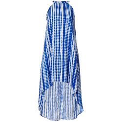 Almost Famous Juniors Tie Dye Stripe Maxi Dress