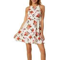 Almost Famous Juniors Floral Skater Dress