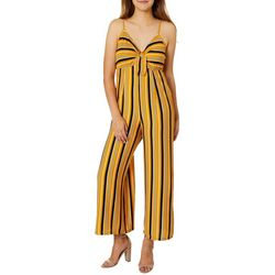 Almost Famous Juniors Striped Gaucho Jumpsuit