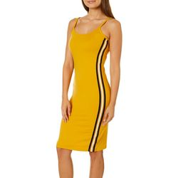 Almost Famous Juniors Solid Side Stripe Sleeveless Dress