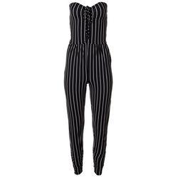 Juniors Striped Halter Sleeveless Jumpsuit