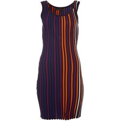 Almost Famous Juniors Rib Knit Vertical Stripes Dress