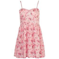 Juniors Floral Smocked Dress