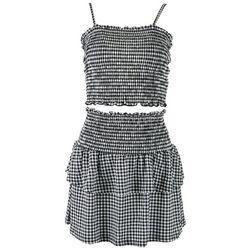 Jolie & Joy Juniors Checkers Tube Top & Skirt 2-pc. Set