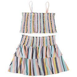 Jolie & Joy Juniors Striped Tube Top & Skirt 2-pc. Set