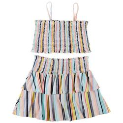 Juniors Striped Tube Top & Skirt 2-pc. Set