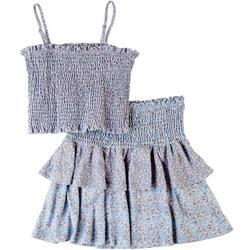 Juniors Floral Tube Top & Skirt 2-pc. Set