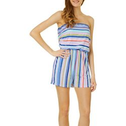 Full Circle Trends Juniors Colorful Stripes Romper