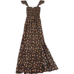 Juniors Faux Tank Floral Maxi Dress