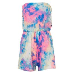 Full Circle Trends Junior Tye Dye Shorts Romper