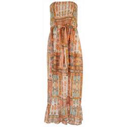 Juniors Strapless Midi Dress