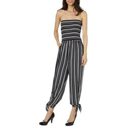 Full Circle Trends Juniors Striped Strapless Crop