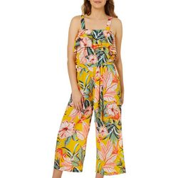 Full Circle Trends Juniors Tropical Floral Print Jumpsuit
