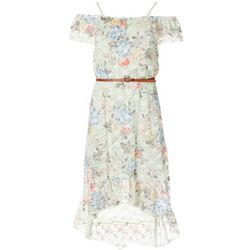 Full Circle Trends Juniors Floral Lace Print Maxi