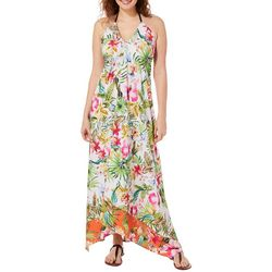 Live 4 Truth Juniors Tropical Floral Halter Maxi Dress