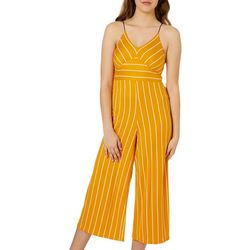 Polly & Esther Juniors Mixed Stripe Wide Leg Jumpsuit