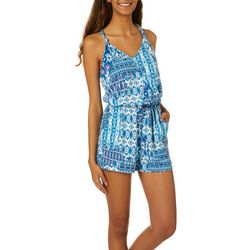 Joe Benbasset Juniors Ikat Print Knit Romper