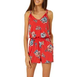 Joe Benbasset Juniors Floral Print Knit Romper
