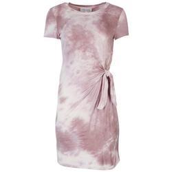 Juniors Waist Knot Tye Dye Dress