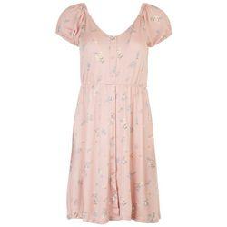 Derek Heart Juniors Floral BabyDoll Dress