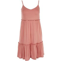 Pink Rose Juniors Solid Spaghetti Strap Slip Dress