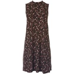 Juniors Mock Neck Small Floral Dress