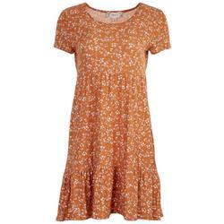 Juniors  Tiered Short Sleeve Baby Doll Dress