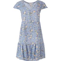 Juniors Floral Button Babydoll Dress
