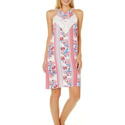 Pink Rose Juniors Floral Halter Sundress