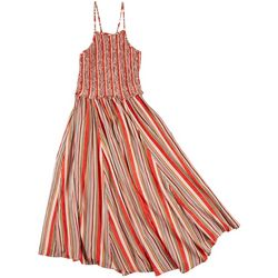 Angie Juniors Smocked Stripe Dress