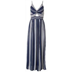 Angie Juniors Stripes Maxi Dress