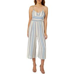 Angie Juniors Striped Gaucho Jumpsuit