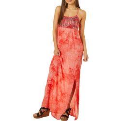 Angie Juniors Tie Dye Maxi Dress